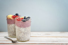 Pudding with chia seeds Royalty Free Stock Image