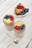 Pudding with chia seeds Royalty Free Stock Photo