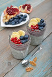 Pudding with chia seeds Royalty Free Stock Photography
