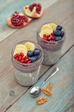 Pudding with chia seeds Stock Photography