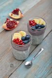 Pudding with chia seeds Stock Image