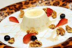Pudding crémeux italien photo stock