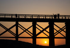 Pudding Creek Trestle Bridge at Fort Bragg, California Royalty Free Stock Photos
