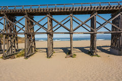 Pudding Creek Trestle, Fort Bragg, California Royalty Free Stock Photography