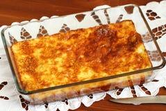 Pudding cuit au four de fromage blanc Images libres de droits