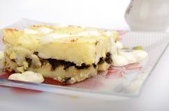 Pudding cuit au four de pomme de terre photographie stock libre de droits