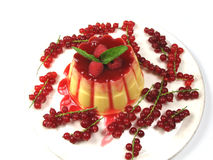 Pudding décoré Photographie stock libre de droits