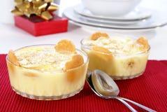 Pudding de banane Photo stock