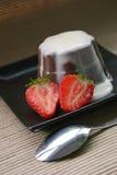 Pudding de chocolat Photos libres de droits