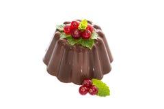 Pudding de chocolat crémeux Photographie stock libre de droits