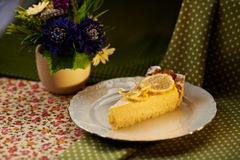 Pudding de citron photographie stock