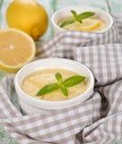 Pudding de citron image libre de droits