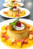 Pudding de crème anglaise de caramel Image libre de droits