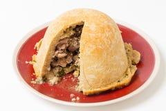 Pudding de graisse de rognon de poulet horizontal Photo stock