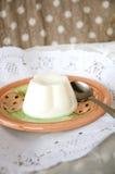 Pudding de lait Photographie stock