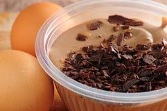 Pudding de mousse de chocolat photographie stock libre de droits