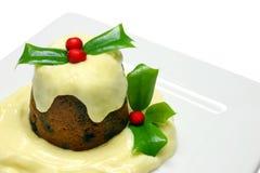 Pudding de Noël Image libre de droits