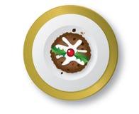 Pudding de Noël illustration libre de droits