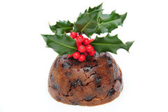 Pudding de Noël Images libres de droits