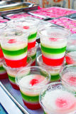 Pudding de noix de coco Photos stock