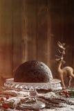 Pudding de Noël Photographie stock libre de droits