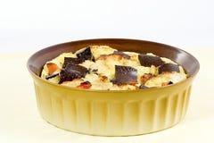 Pudding de pain avec du chocolat Image stock