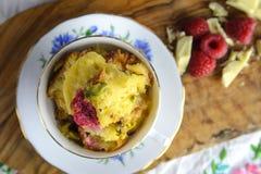 Pudding de pain et de beurre Photographie stock libre de droits