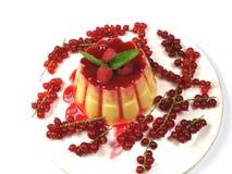 Pudding decorato Fotografia Stock Libera da Diritti