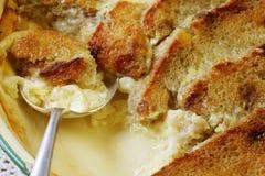 Pudding del burro e del pane Immagine Stock