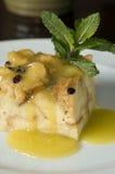 Pudding del pane con l'uva passa 2 Fotografie Stock Libere da Diritti