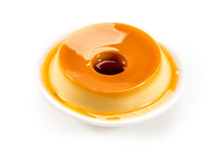 Pudding, delicious dessert. Dessert made with condensed milk Royalty Free Stock Photo