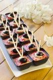 Pudding della bacca del dessert Fotografia Stock Libera da Diritti