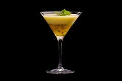 Pudding della passiflora commestibile in vetro Immagine Stock