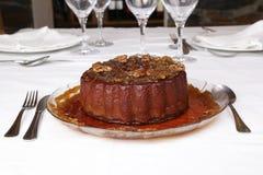 Pudding della zucca con le noci Fotografie Stock