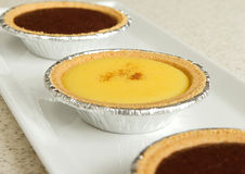 Pudding di vaniglia Immagini Stock