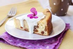 Pudding doux de fromage blanc avec des raisins secs Photos libres de droits