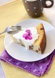 Pudding doux de fromage blanc avec des raisins secs Photographie stock libre de droits