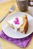 Pudding doux de fromage blanc avec des raisins secs Photographie stock