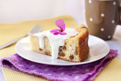Pudding doux de fromage blanc avec des raisins secs Images libres de droits