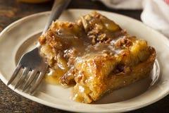 Pudding doux de pain fait maison Images libres de droits