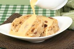 Pudding e crema del grasso di rognone Fotografia Stock