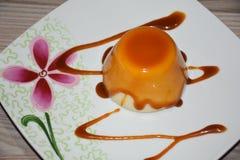 pudding för caramelcustardflan arkivfoton
