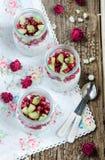 Pudding för granatäpple- och kiwichiafrö Royaltyfria Bilder