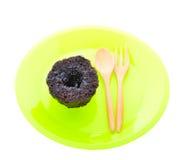 Pudding för varm choklad med fondantmitten Royaltyfri Fotografi
