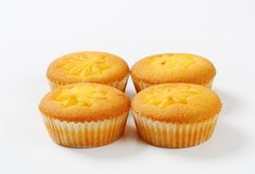 Pudding filled cupcakes Royalty Free Stock Photo