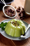 Pudding flavored with pistachio Royalty Free Stock Photo