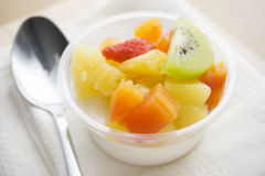 Pudding fruit salad Stock Images
