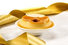 Pudding, heerlijk dessert royalty-vrije stock afbeelding