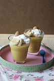 Pudding med bananer och vaniljrån Royaltyfria Foton
