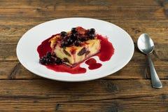 Pudding med vinbär Fotografering för Bildbyråer